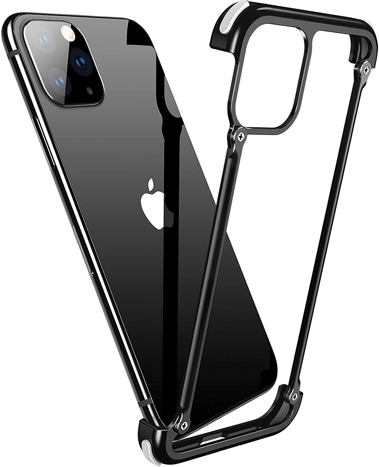 OATSBASF Aluminum Bumper Case Compatible with iPhone 11 Pro, Utral-Thin Corner Corver Bumpers Case for iPhone 11 Pro 5.8-inch (Black)