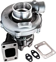 maXpeedingrods Hybrid T3/T4 T3 T4 T04E Turbo Charger 0.63A/R Turbine 400+HP 7psi-21psi, T3T4 44 TRIM 5-Bolt Flange Turbocharger for 1.6L-2.5L engines Oil Cooled W/Gaskets