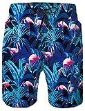 Rave on Friday 3D Stampato Costumi da Bagno Uomo Fenicotteri Blu Grafico Progettare Hawaiano Pantaloncini e Calzoncini Surf L