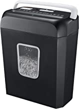 Shredder for Home, Bonsaii 6 Sheet Cross Cut Paper Shredder for Small Home Office Use, Portable Handle Design with 3.4 Gal...