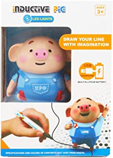 LFOEwpp7 Robot Toy, Mini Pig Robot Pen Inductive Remote Radio Vehicle with Light Music Education Toy, Children Fun Learning at Home Christmas Birthday Gift 1#