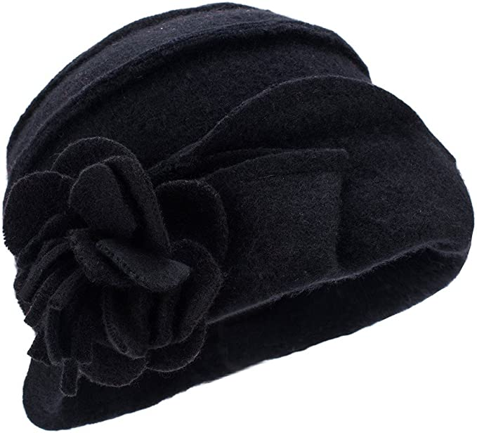 1920s Accessories: Feather Boas, Cigarette Holders, Flasks Womens Ladies Retro 1920s Gatsby Style 100% Wool Bucket Cloche Beanies Winter Hats A376 £16.79 AT vintagedancer.com