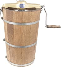 product image for 8 qt Country Ice Cream Maker - Classic Wooden Tub - Hand Crank