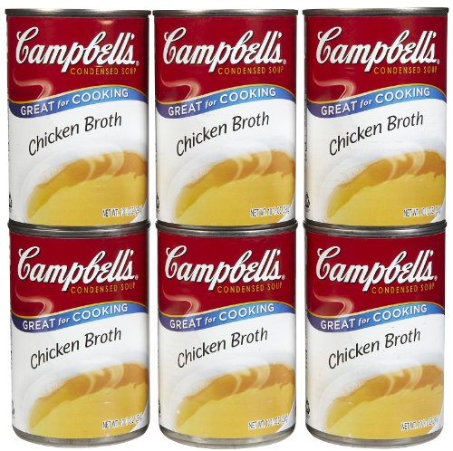 CAMPBELL'S Chicken Broth, 10.5 Oz (Pack of 6)
