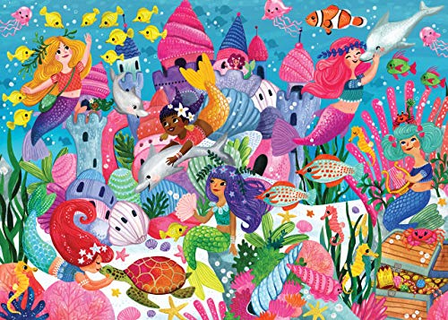 Mermaid Adventure Kids' Floor Puzzle (48 Pieces) (36 inches wide x 24 inches high)