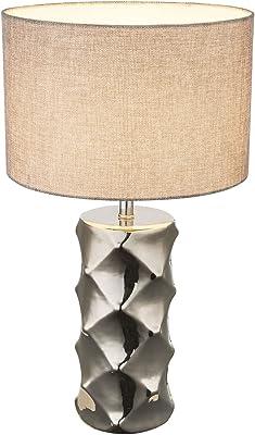 Globo TRACEY Lampe de table Chromé/textile gris