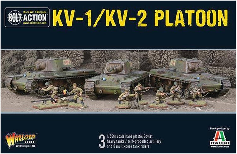 Bolt Action KV-1 KV-2 Platoon Warlord Games