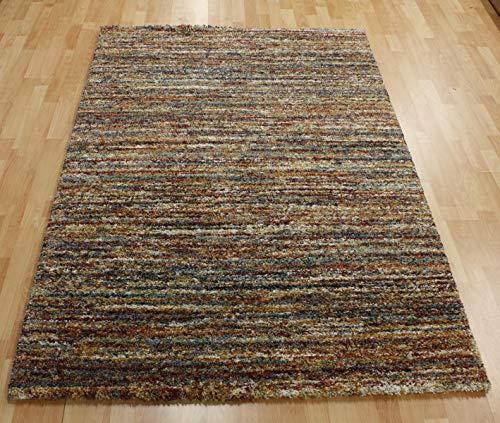 Ragolle Mehari Teppich 23067 Streifen 2959 Mehrfarbig bunt rost meliert (200 x 290 cm)