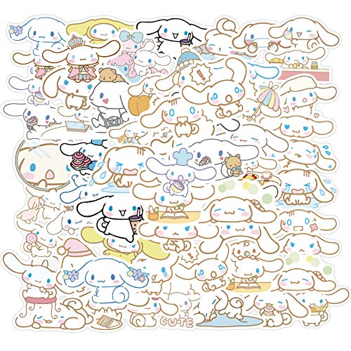 Cinnamoroll Stickers for Water Bottles 50pcs Waterproof Cute Aesthetic Trendy Stickers for Teens Kids Girls and Boys, Perfect for Laptop Notebook Phone Car Skateboard Travel Durable