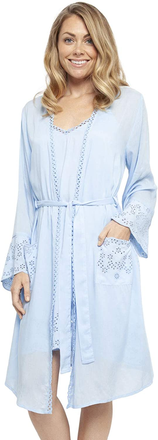 Cyberjammies 4405 Women's Olivia discount Blue Ro Super sale period limited Short Modal Embroidered