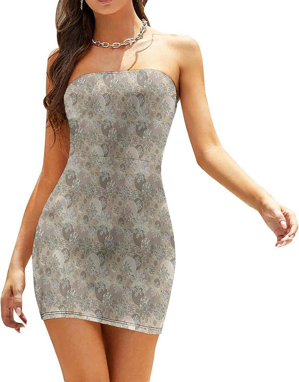 Women's Strapless Bodycon Club Dress Da Floral Victorian Dresses