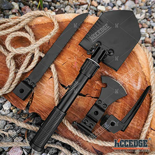 Axe Hatchet Hammer Shovel Saw Digger Compass Multitool Survival Kit...