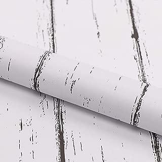 Möbelfolie Selbstklebend Holz Tapeten Weiß 45cmX3m Schrank Klebefolie Aufkleber Abnehmbare Selbstklebende Tapeten Dekofolie Möbelsticker Wand wasserdicht Vinylfolie Schlafzimmer Schränke