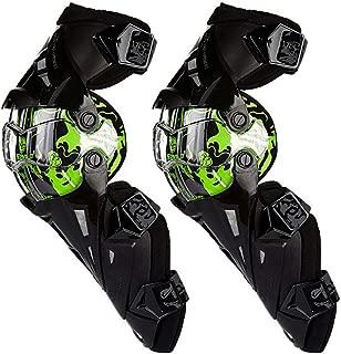 SCOYCO Bionic Designed PP PE Hard Collision Avoidance Windproof Armor Rotatable Knee Guards(GREEN)