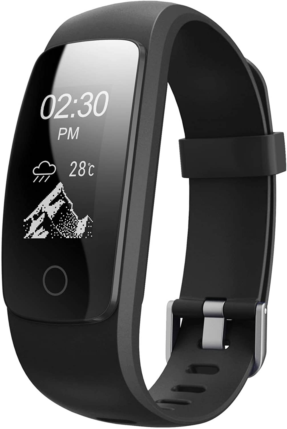Fitness Tracker HR,Teslasz T107Plus blueeetooth 4.0 Pedometer with Heart Rate Monitor Auto Sleep Monitor Activity Tracker for Android iOS Smart Phone