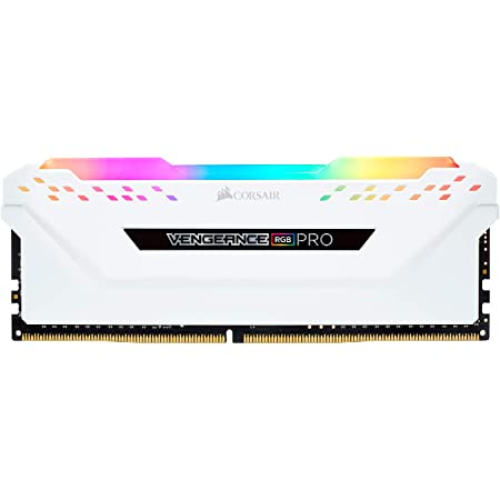 Corsair Vengeance RGB Pro - Kit de Memoria Entusiasta 16 GB (2 x 8 GB), DDR4, 3200 MHz, C16, XMP 2.0, Iluminación LED RGB, Blanco