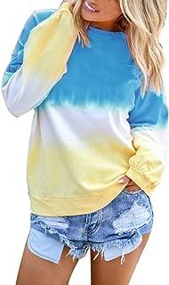Women's Gradient Long Sleeve Shirt Pullover Shirt Blue Black Top