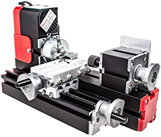 Mini Lathe Machine, Miniature Wood Metal Lathe Machine for Hobby Science Education Modelmaking (120V)