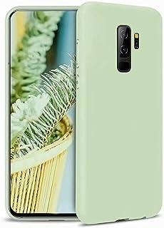 CRABOT Compatible con Samsung Galaxy S9+/S9 Plus Funda Silicona Líquida Parachoques de Goma de Gel Delgado A Prueba de Cho...