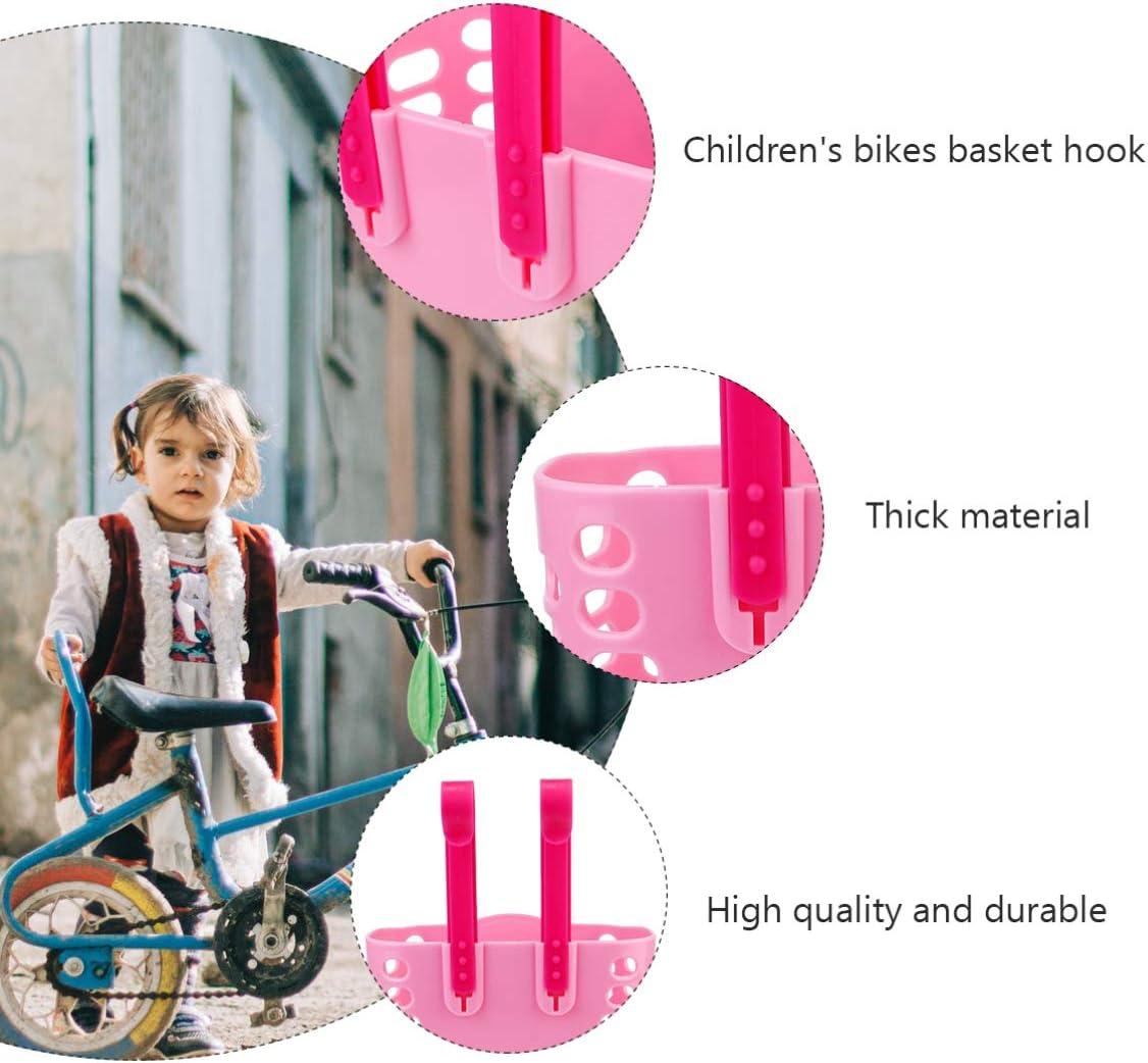 LIOOBO Canasta de Bicicleta para Ni/ños Patr/ón de Tibur/ón Canasta de Manillar de Bicicleta Canasta de Almacenamiento de Pl/ástico para Ni/ños Ni/ñas Accesorios de Decoraci/ón de Scooter Negro