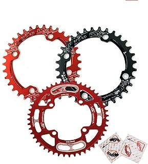 【US Stock】 30-52T 104BCD Narrow Wide MTB Chainring, Single Speed Round Oval AL7075 CNC Mounrtain Bike Chain Ring, Ultralight Chainwheel, fit Shimano/SRAM/FSA Crank 7-11S Chains