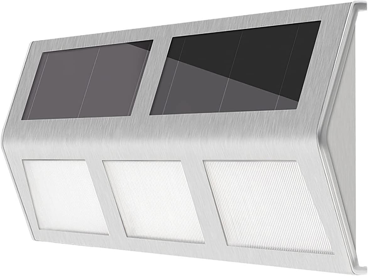 Max 89% OFF AHNUNVA Reservation Solar Deck Lights 4 Water Outdoor LED Step