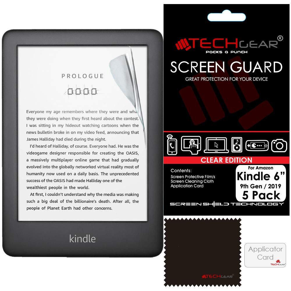 TECHGEAR [5 Piezas] Protectores de Pantalla compatibles con Amazon Kindle eReader Novena generación (2019) Pantalla de 6