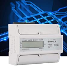 Digital 3 Phase Electric Power Meter,230/400V 5-100A Energy Consumption Meter Rail Type Installation With Standard Configu...