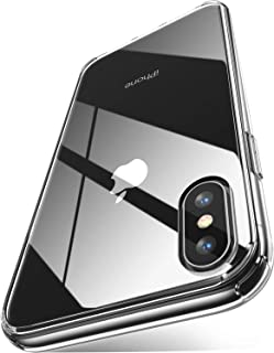 CASEKOO iPhone Xs Max Clear Case Ultra Hybrid Transparent Cover with Hard Back Soft TPU Bumper Only for iPhone Xs Max 6.5 inch 2018 [Frost Series]-Crystal Clear