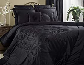product image for Victor Mill Medallion Black Queen Comforter Set