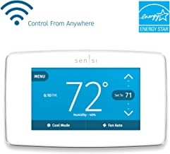 Emerson Sensi Touch Wi-Fi Smart Thermostat with Touchscreen Color Display, Works with Alexa, White, Energy Star Certified, C-wire Required