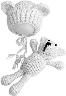 d8e037fc99c8 Heaviesk Sombrero del bebé Bebé Bebé Tejer Crochet Gorros Sombrero con  muñeca Juguete Recién Nacido Bebé