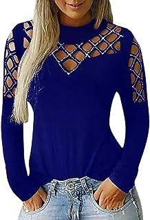 T-Shirt /à Manches Longues Imprim/é De No/ëL pour Femme Pull Haut D/éContract/é Automne Et en Hiver Sweat Pullover Pas Cher Fashion Chemisier Fille Grande Taille Blouse Top S-3Xl