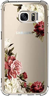 Samsung Galaxy S7 Case with flowers, IESSVI Girl Floral Pattern Clear TPU Soft Slim Phone case for Samsung Galaxy S7