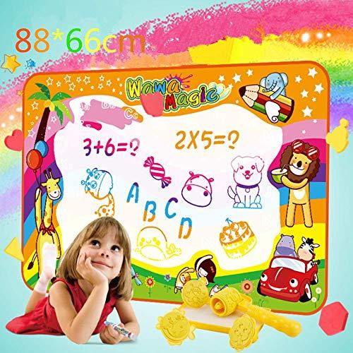 Kalavika Agua Dibujo Pintura Juegos de Agua 88x60 cm Alfombra de Agua Doodle para niño Pizarra Mágica Juguete Educativo, Regalo para Niños