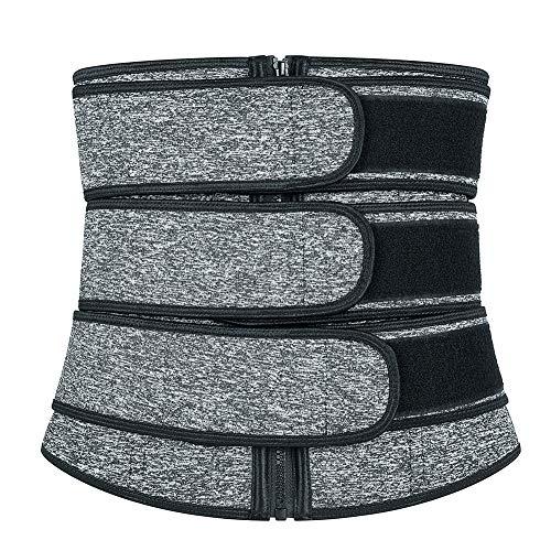 GUOCU Faja Lumbar para Mujer Cinturón Protector De Los Lumbares En Actividades Deportivas, El Gimnasio Y En El Trabajo Evita Lesiones Y Dolor De Espalda Compresión De Triple Ajuste,Negro Blanco,XXS