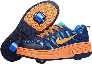 Ali-tone Chaussures à roulettes Fille garçon Retractable Basket a Roulette Two Wheel Detachable Creative Gifts
