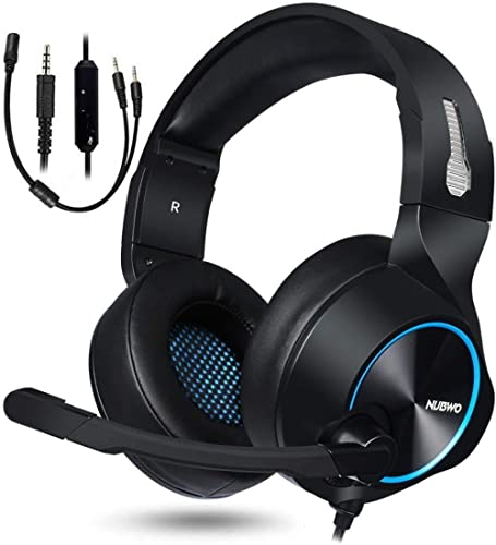 NUBWO Gaming Headset for Xbox One PS4 PC Gaming and Nintendo Switch,Stereo Surround Noise Cancelling Over Ear Gaming ...