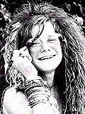 VINTAGE MUSIC PHOTOGRAPHY PORTRAIT SINGER JANIS JOPLIN