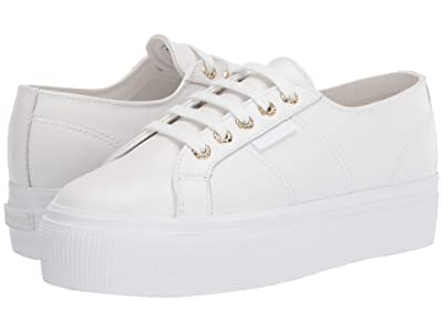 Superga 2790 Nappaleaw Sneaker (White/Gold) Women