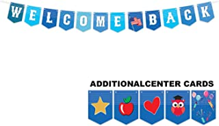 Welcome Back Banner Decoration (Military, Back-to-School, Reunion) w/Interchangeable Cards