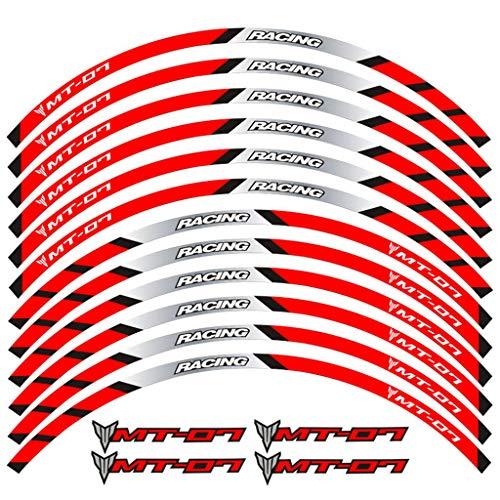 psler Motorrad Felgenrandaufkleber Rim Stripes Aufkleber Für Yamaha MT-07