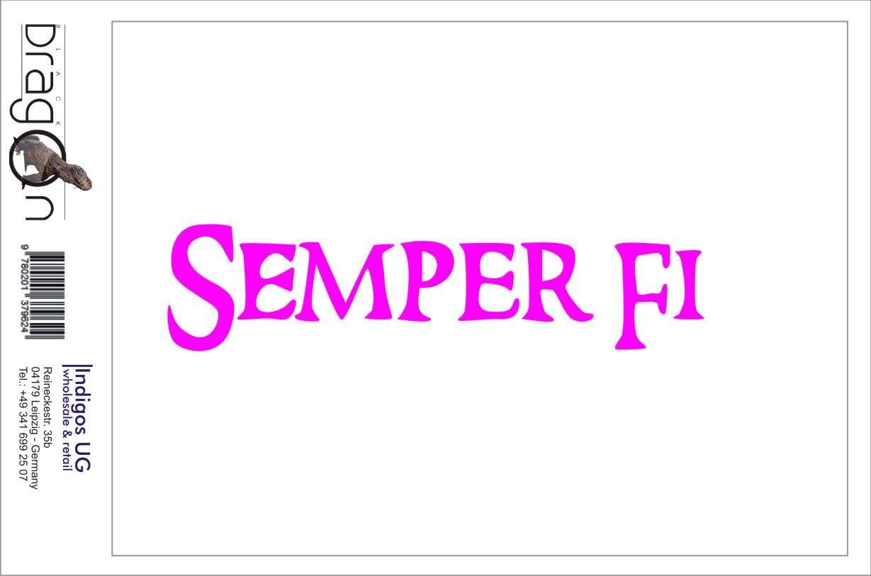 Indigos Ug Aufkleber Autoaufkleber Jdm Die Cut Semper Fi Marines Sticker Car Fenster Laptop Sticker Weiß 149mmx35mm Auto
