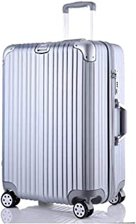HPXCAZ Luggage [Scratch] Trolley Case Suitcase Men and Women Luggage Boarding 20 Inch Bag Universal Wheel Blue Black Silver Pink 20 Inch Chassis (Color : Silver, Size : 20 inches)