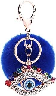 RagBear Evil Eye Keychain Bulk Elephant For Men Women Greek Green India Leather