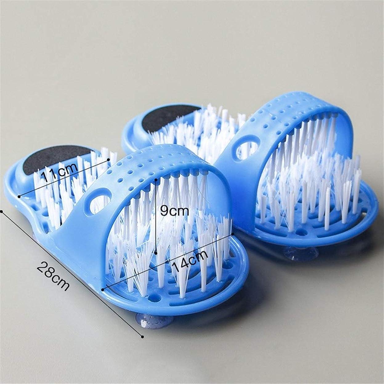 堀ウサギ現実的足の靴のシャワーのブラシのマッサージャーのスリッパの足の軽石のフィートのスクラバーのブラシのための浴靴のブラシ