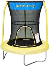 JumpKing Bazoongi Trampoline with 3 Poles Enclosure System, 55