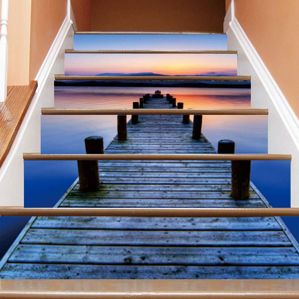 Escaleras Pegatinas Mural Papel autoadhesivo PVC 3D Corredor de caballete Etiqueta engomada de la decoración del hogar DIY HD paso pegado pegatina de pared móvil Comprar tres obtener uno gratis: Amazon.es: Hogar