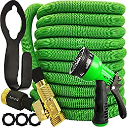 """cheap Junredy 25ft Garden Hose Expandable Water Hose – Durable Fabric 3750D   3/4 """"With Plug…"""