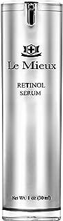Le Mieux Retinol Serum - Anti Aging 0.5% Retinol Face Serum with Skin Smoothing Peptides, Hyaluronic Acid & Apple Stem Cel...